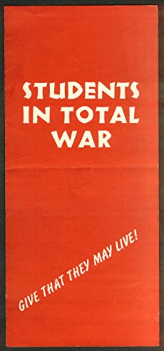Students in Total War fund raising folder 1942 World Student Service Fund (Fund Services compare prices)