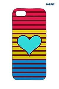 Lorem Back Cover For Apple iPhone 5/5S -Multicolor-L14343
