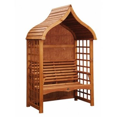 Pavilion Hand Crafted Garden Arbour (Teak Finish)