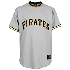 Majestic Athletic Pittsburgh Pirates Blank Replica Cooperstown Road Jersey by Majestic Athletic