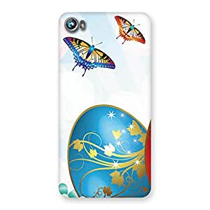 Anime Butterflies Back Case Cover for Micromax Canvas Fire 4 A107
