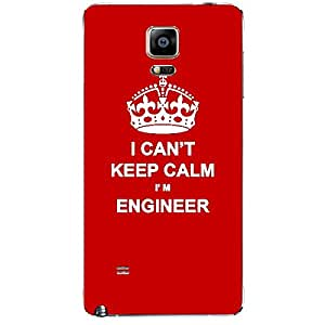 Skin4gadgets I CAN'T KEEP CALM I'm ENGINEER - Colour - Red Phone Skin for SAMSUNG GALAXY NOTE 4 (N910)
