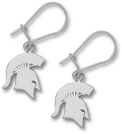 Michigan State Spartans MSU NCAA Sterling Silver Earrings