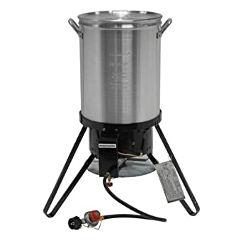 Experience the most juicy, succulent, and best tasting turkey that you've ever had. The Brinkmann Turkey Fryer comes complete with 30-quart boiling pot, turkey stand and hook, and 12-inch deep fryer thermometer. Designed with safety in mind, the temp...