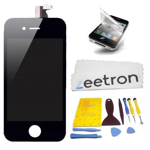 Zeetron© Iphone 4 Black Premium Screen Repair Kit For At&T Only (Full Tool Kit + Screen Protector + Zeetron Cloth)