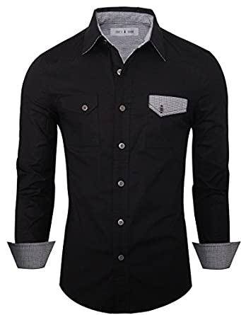 Men women inner ware male models picture for Tom s ware mens premium casual inner contrast dress shirt