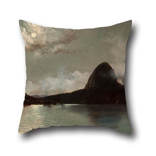 The Oil Painting Eduardo De Martino - Botafogo Beach Throw Pillow Case Of ,20 X 20 Inches / 50 By 50 Cm Decoration,gift For Girls,home,father,play Room,girls,home Theater (2 Sides) (One Direction Big Fleece Blanket compare prices)