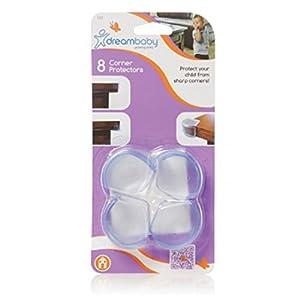 Dreambaby - Protectores redondeados para esquinas (4 unidades), color transparente en BebeHogar.com
