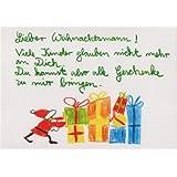 Witzige Weihnachtspostkarte Glauben