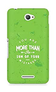 AMEZ you are more than the sum of your mistakes Back Cover For Sony Xperia E4