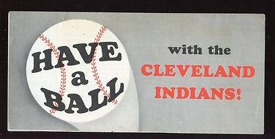 1962 Cleveland Indians Roster / Ticket Brochure EX+ - MLB Unsigned Miscellaneous