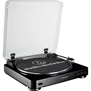 Audio Technica AT-LP60 Fully Automatic Belt Driven Turntable- Black
