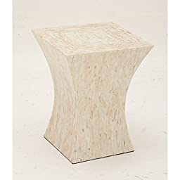 Deco 79 49095 Wood Inlay Accent Table, 15\
