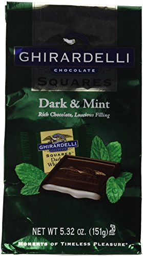 Ghirardelli Chocolate Dark Chocolate & Mint Squares Chocolates Gift Bag, 5.32 oz.