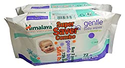 Himalaya gentle Baby Wipes (72N * 2 packs)