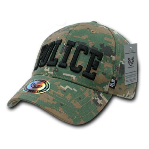 [Rapid Dom Law Enforcement Woodland Digital Camouflage Baseball Caps 943 Police] (Cheap Police Hats)