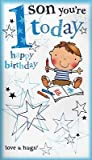 Second Nature Large Son 1St Happy Birthday Card 1 Today 3D Pop Out Quality Greeting Card