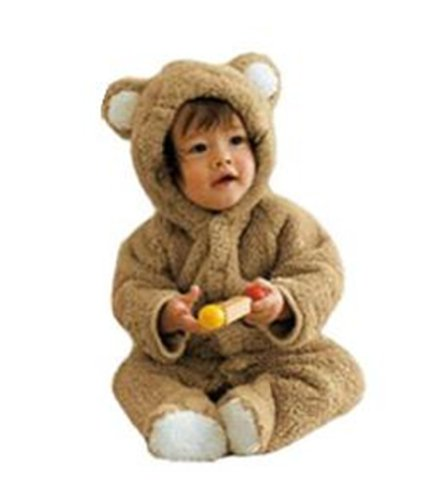 Baby boy girl Infant Animal Look costume Thick Bunting Bodysuit snowsuit