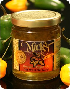 Mick's Peppouri Buzztail XX-Hot Pepper Jelly- - 8oz.(227gr) by Mick's Peppourri