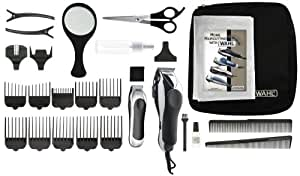 Wahl 79524-1001 Deluxe Chrome Pro with Multi-Cut Clipper & Trimmer, 27 Pieces