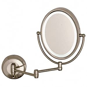 CRL Wall Mount Dual Arm Oval Mirror with LED Surround Light by CR ...