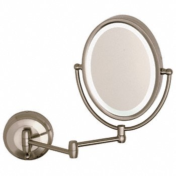 Cr Laurence Zledw410 Crl Wall Mount Dual Arm Oval Mirror With Led Surround Light By Cr front-604793