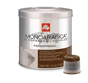 Find Illy Iper 21 Count Espresso Capsules, Medium Roast (Monoarabica Brazil 21 Count Capsules) - illy