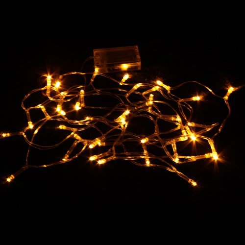 Dgi Mart Party Decoration Supplies Yellow 40 Led Battery Outdoor String Light 4M Length front-620247