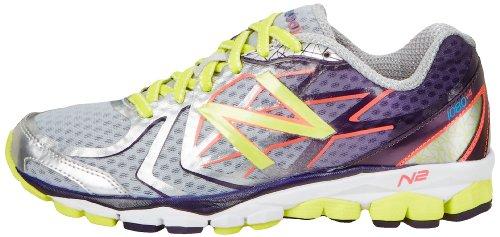 888098226782 - New Balance Women's W1080 Cushion Running Shoe,Silver/Purple,12 D US carousel main 4