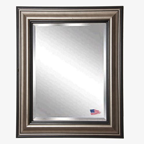 American Made Rayne Antique Silver Beveled Wall Mirror, 26.5 X 32.5 front-1008455