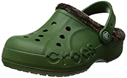 Crocs Baya Heathered Lined Clog - Boys\' Seaweed/Mahogany, 8/9