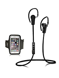 Jarv NMotion Wireless Bluetooth 4.0 Stereo Earbuds with Universal Sports Armband - Black