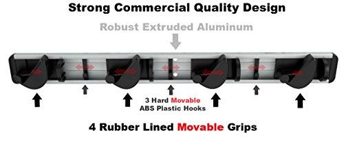Aluminum Mop, Broom & Tool Holder-High Quality