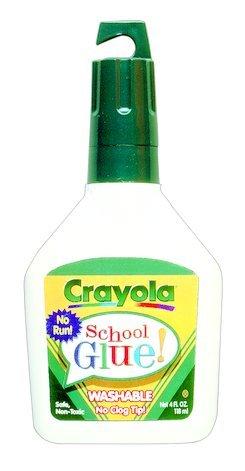 12PK BINN 561104 Crayola No-Run School Glue 4oz