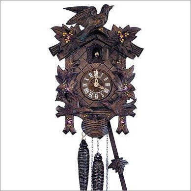 Schneider Black Forest 12 Inch Musical Painted Flowers Cuckoo Clock