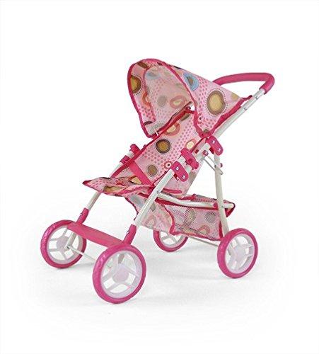 Puppenwagen, Puppenbuggy, Farbe:Pink / Beige