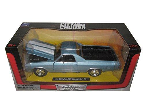 1970 Chevrolet El Camino SS Blue 1/24 by New Ray 71885 (El Camino Model compare prices)