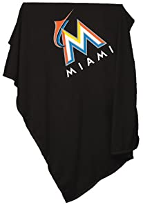 MLB Miami Marlins Sweatshirt Tackle Twill Blanket by Logo