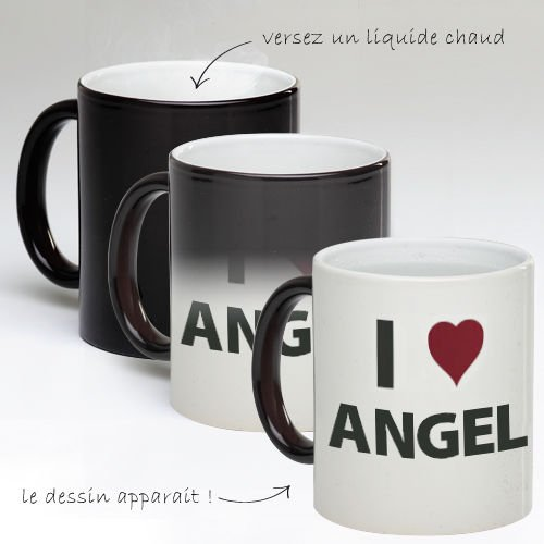 Tasse Mug Magique Personnalise I Love Angel