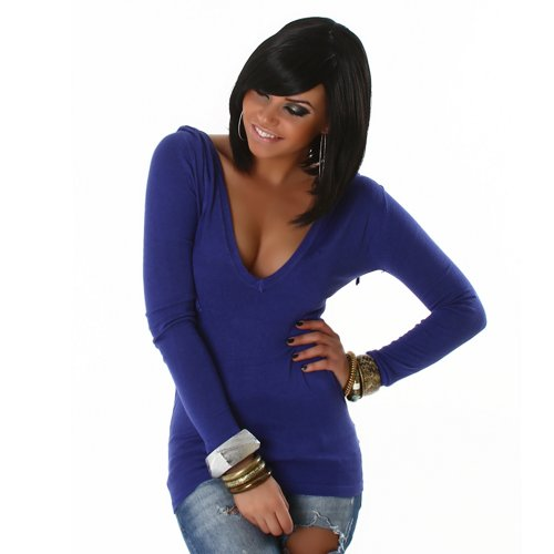 Pullover Pulli Hoodie mit V-Ausschnitt und Kapuze Einheitsgröße für 34,36,38 verschiedene Farben
