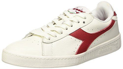 diadora-game-l-low-waxed-pompes-a-plateforme-plate-mixte-adulte-blanc-casse-bianco-bianco-rosso-pepe