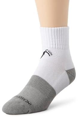 Incredisocks Above Ankle Sports Sock-L-White