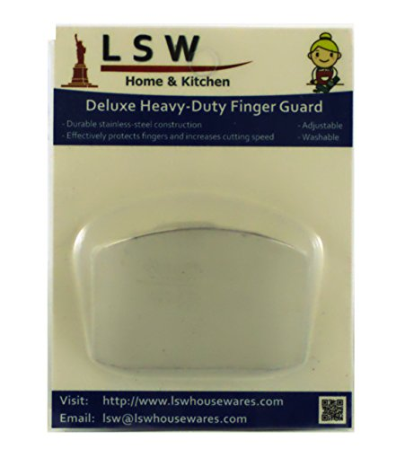 LSW Deluxe Heavy Duty Finger Guard (Stainless Steel) for Slicing/Dicing