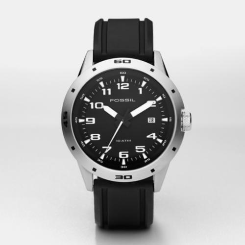 Fossil Men's AM4239 Black Rubber Watch