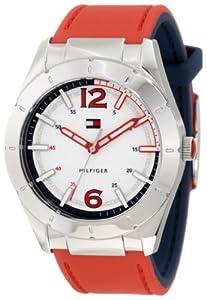 Tommy Hilfiger 1781193 - Reloj de pulsera hombre, silicona, color rojo