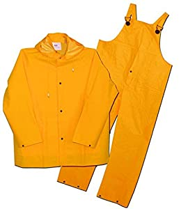 Boss 3PR0300YM Medium Yellow 3-Piece Lined PVC Rain Suit by Boss Gloves