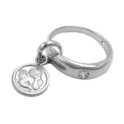 GAL ciondolo battesimo anello argento 925 con angelo