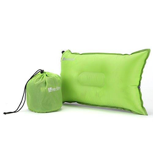 topnaca leggero comprimibile Recreation autogonfiante aria cuscino, rettangolare 50,8x 30,5cm confortevole, per sport all' aperto, campeggio, escursionismo, Viaggi E Picnic, Apple Green&Grey