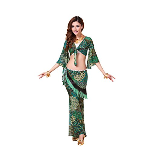 HOTER® Malachite Green Belly Dancing Costumes Set, With Wrap, Price/Set