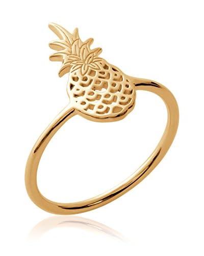 BALI Jewelry Anillo metal bañado en oro 18 ct